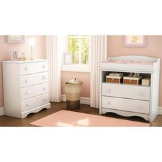 Just about every house has a white changing table dresser lying around. For obvious reasons, the dre Changing Table With Drawers, White Changing Table, Changing Table Topper, Changing Tables, Vintage White Bedroom, White Bedroom Set, Baby Bedroom Sets, Bedroom Chest, Bedroom Dressers