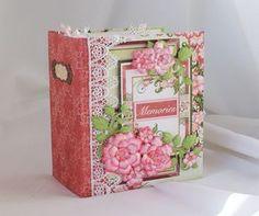 "Heartfelt Creations Arianna Blooms Paper Collection Mini Album ""Memories"" - Scrapbook.com"