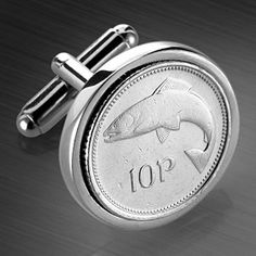 If you're still mourning the passing of the lira, the franc or the lovely salmon that use to grace the irish 10 pence coin, here's a way to enjoy a bit of defunct-currency related nostalgia - cufflinks. So gimmicky and such a great gift idea!