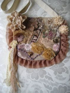 French inspired romantic tattered purse by JenniesHeirlooms