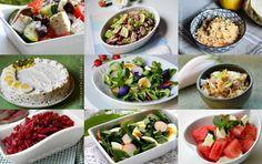 RETETE DE SALATE - Rețete Fel de Fel Vegetarian Recipes, Healthy Recipes, Healthy Food, Party Platters, Fresh Rolls, Pasta Salad, Quinoa, Acai Bowl, Cake Recipes