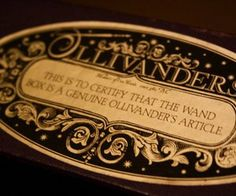 """ravenclawalohomora: """" Ollivanders """"Ollivanders in South Side, Diagon Alley, London, is owned by the Ollivander family and run by an older family member Garrick Ollivander, known only as Mr."""