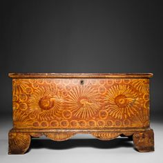 Diminutive Paint Decorated Blanket Chest Pennsylvania circa 1835