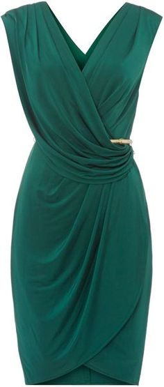 this color! plus the tulip hem ❤ Untold Dress Wrap Over - Lyst Mais