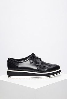 Faux Leather Platform Brogues. Forever 21