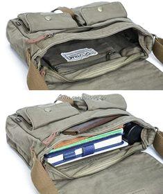 Army Style Canvas Messenger Shoulder Bag (6)