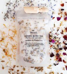 Blended with herbs, flowers & essential oils Organic Herbal Tea, Organic Herbs, Bath Tea, Milk Bath, Lotion, Sugar Scrub Recipe, Soap Packaging, Bath Salts, Aromatherapy