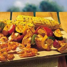 Check out this great recipe from Franks RedHot: Buffalo Shrimp & Chicken Kabobs