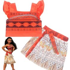 421c7c7e840 HOT PRICES FROM ALI - Buy Princess Moana Cosplay Costume for Children  Vaiana dress Costume with Necklace for Halloween Costumes for Kids Girls  Gifts