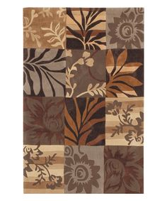 Take a look at this Brown Floral Equinox Rug today!