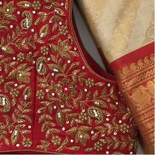 Wedding Saree Blouse Designs, Best Blouse Designs, Pattu Saree Blouse Designs, Blouse Neck Designs, Wedding Sarees, Maggam Work Designs, Hand Work Blouse Design, Designer Blouse Patterns, Hanger