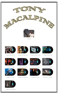 Album Art Icons: Tony Macalpine Discography Folders (ICO & PNG)