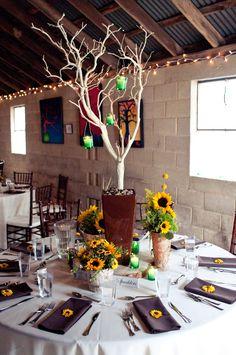 Sunflower Theme Wedding Table Decor