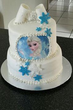 Frozen themed birthday cake by CakesbySthabile