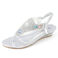 SHOEZY Women's Wedding Wedge Sandals Thong Slingback Jewels Embellished Overlay Silver US 8 Shoezy http://www.amazon.com/dp/B00W51SGEE/ref=cm_sw_r_pi_dp_kjVTvb12EJV4C