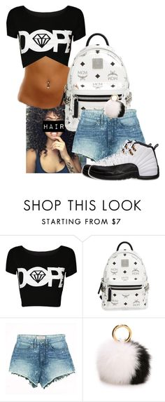 """""""Untitled #88"""" by dance-princesss ❤ liked on Polyvore featuring MCM, GUESS, Iphoria, jeanshorts, denimshorts and cutoffs"""