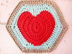 Heart Hexagon Pattern crochet