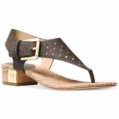 bac3be6d6832c MICHAEL Michael Kors London Thong Sandals (Brown