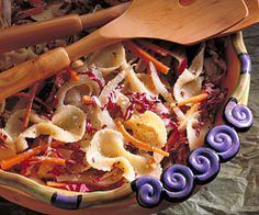 Shredded radicchio and matchstick-size strips of fennel and carrot ...