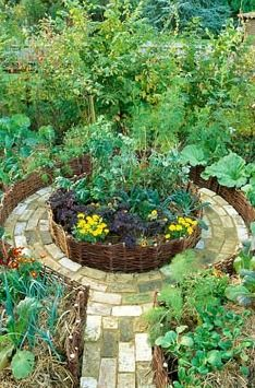 I want to plant the garden like this, with a seating area in the middle.