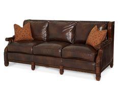 Skórzana sofa z drewnianym wykończeniem - Opt1 | Jacob Furniture