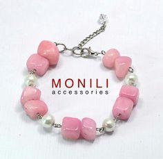 Dusty pink riverstonr bracelet  https://www.tokopedia.com/monili/dusty-pink-river-stone-bracelet-bc-016