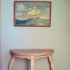 Reduced Price Original Vintage Painting DREAM SHIP Wes Anderson look Life Aquatic. $79.99, via Etsy.