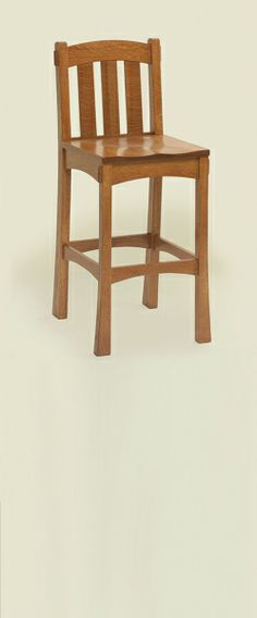 My Modesto style bar stool, but we have Millers Cherry stain