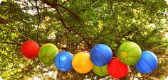Primary Color Paper Lanterns