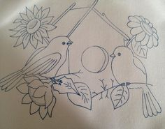 Adult coloring page Poppies Wreath Cake Hand Embroidery Stitches, Vintage Embroidery, Embroidery Patterns, Bird Coloring Pages, Adult Coloring Pages, Art Drawings For Kids, Animal Paintings, Fabric Painting, Sketches