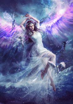 The wonderful illustrations by Laura Sava - Fantasy Book Fantasy Girl, Chica Fantasy, Fantasy Women, Fantasy Fairies, Elfen Fantasy, Image Digital, Sky Digital, Art Manga, Fairy Queen