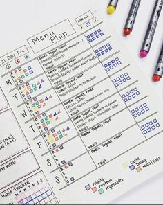 21 Creative Bullet Journal Meal Plan Ideas {to keep you organized and well fed!} Bullet Journal 21 Day Fix Tracker Bullet Journal Tracker, Bullet Journal 21 Day Fix, Bullet Journal Banners, Bullet Journal How To Start A, Bullet Journal Ideas Pages, Bullet Journal Spread, Bullet Journal Inspiration, Journal Pages, Bullet Journals