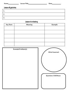 1000 Images About Notes On Pinterest Cornell Notes