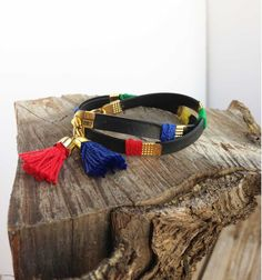 Recycled Eco friendly wrap bracelet  Ethnic by KerenMekler on Etsy, $44.90