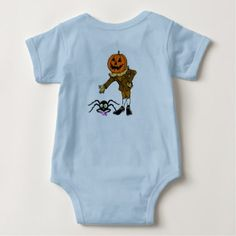 Scarecrow Baby Jersey Bodysuit - Halloween happyhalloween festival party holiday