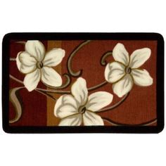 Nourison 30-Inch x 20-Inch Flowers Kitchen Rug in Red - BedBathandBeyond.com