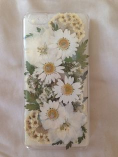 real pressed flowers phone case by danielarae on Etsy