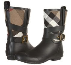 Burberry Rain Checkered Boots