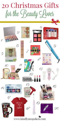 20 Christmas Gifts for the Beauty Lover If you or someone you know is obsessed with all things beauty, then you'll love this Christmas list of top rated beauty products! Christmas Gift Guide, Christmas Gifts For Her, Holiday Gifts, Christmas Diy, Christmas Stuff, Xmas, Diy Gifts For Mom, Gifts For Family, Gifts For Him