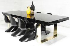 Fat Brass U-Leg Dining Table | ModShop
