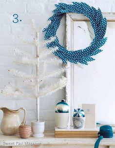 fabric feather wreath
