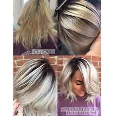 Shadow root with pearl-ice blonde.