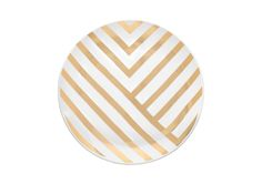 DELIGHT SIDE PLATE - Gold angles