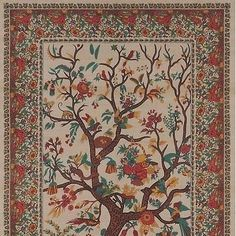 Handmade 100% Cotton Tree of Life Tapestry Tablecloth Bedspread Coverlet Beach Sheet Tan Twin Full Queen & King (