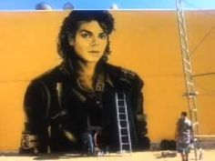 Levi Ponce, Michael Jackson Mural, Los Angeles, August 2014