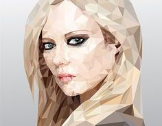 """Check out new work on my @Behance portfolio: """"Low/high poly - Avril Lavigne"""" http://be.net/gallery/43504033/Lowhigh-poly-Avril-Lavigne"""