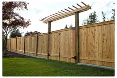 curb lined fence with gate. www.tlchandysolutions.com