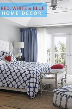 How to use red, white and blue in home design.