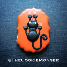 Halloween Cat Cookies ~ The CookieMonger ~ We can turn any idea into awesome cookies! Email thecookiemonger@outlook.com.