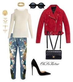 """After work"" by ohsoketur on Polyvore featuring Roberto Cavalli, Andrew Marc, Christian Louboutin, Chanel, Luv Aj and Velvet by Graham & Spencer"